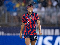 EAST HARTFORD, CT - JULY 1: Alex Morgan #13 of the USWNT walks across the field during a game between Mexico and USWNT at Rentschler Field on July 1, 2021 in East Hartford, Connecticut.