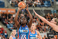 6th June 2021; Ken Rosewall Arena, Sydney, New South Wales, Australia; Australian Suncorp Super Netball, New South Wales, NSW Swifts versus Giants Netball; Samantha Wallace of NSW Swifts prepares to shoot