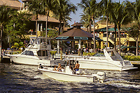 Ft. Lauderdale, Florida - Saturday Afternoon on the New River, opposite the Las Olas River Walk.
