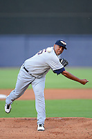 Lakeland Flying Tigers pitcher Wilsen Palacios #55 during a game against the Tampa Yankees at Steinbrenner Field on April 6, 2013 in Tampa, Florida.  Lakeland defeated Tampa 8-3.  (Mike Janes/Four Seam Images)