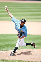 June 25, 2009:  Starting Pitcher Pat Stanley of the Erie Seawolves delivers a pitch during a game at Jerry Uht Park in Erie, PA.  The Erie Seawolves are the Eastern League Double-A affiliate of the Detroit Tigers.  Photo by:  Mike Janes/Four Seam Images