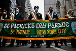 Saint Patrick's Day Parade in New York During Pandemic