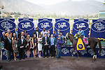 ARCADIA, CA - NOV 04: Tamarkuz #8, ridden by Mike Smith, poses for a photograph in the winner's circle after winning the Breeders' Cup Las Vegas Dirt Mile at Santa Anita Park on November 4, 2016 in Arcadia, California. (Photo by Douglas DeFelice/Eclipse Sportswire/Breeders Cup)