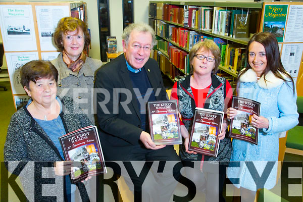 Helen O'Carroll, Curator of the County Museum launched this year's The Kerry Archaeological & Historical Society   'Kerry magazine' at the  Local History Department of Kerry Library, Tralee on Tuesday Pictured Kathleen Brown (KHS), Ann Myles (Secretary KHS), Fr. Tomas O'Luanaigh (Former President KHS), Helen O'Carroll (Kerry County Museum), Marie O'Sullivan, (Editor)