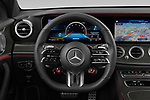 Car pictures of steering wheel view of a 2021 Mercedes Benz E-Class 53-AMG 5 Door Wagon Steering Wheel