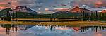 Sunset, South Sister, Broken Top, Sparks Lake, Deschutes National Forest, Oregon