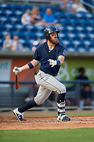 Mobile BayBears Brandon Marsh (9) at bat during a Southern League game against the Mobile BayBears on July 25, 2019 at Blue Wahoos Stadium in Pensacola, Florida.  Pensacola defeated Mobile 2-1 in the first game of a doubleheader.  (Mike Janes/Four Seam Images)