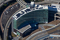 aerial photograph of the Grand Hyatt Hotel at San Francisco International airport (SFO), San Francisco, California
