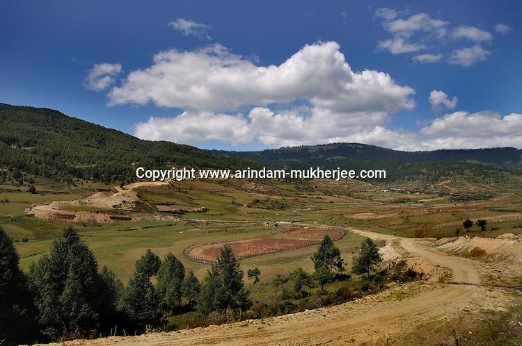 A view of Ura valley, Bumthang, Bhutan. Arindam Mukherjee.