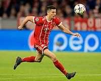 11.04.2018, Football UEFA Champions League 2017/2018, Quarter Finals 2nd leg, FC Bayern Muenchen - FC Sevilla, in Allianzarena Muenchen.  Robert Lewandowski (FC Bayern Muenchen) . *** Local Caption *** © pixathlon<br /> <br /> Contact: +49-40-22 63 02 60 , info@pixathlon.de