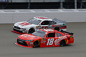 #18: Kyle Busch, Joe Gibbs Racing, Toyota Camry Maltesers and #60: Chase Briscoe, Roush Fenway Racing, Ford Mustang LTi Printing