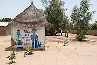 Cashew Nuts.  Toilets for Staff and Visitors,  Group Juboo Cashew Processing Center, Fass Njaga Choi, North Bank Region, The Gambia