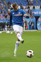 Alfred Finnbogason (Island) - UEFA EURO 2016: Frankreich vs. Island, Stade de France, Viertelfinale