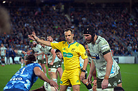 Referee Mike Fraser during the Super Rugby Tran-Tasman final between the Blues and Highlanders at Eden Park in Auckland, New Zealand on Saturday, 19 June 2021. Photo: Dave Lintott / lintottphoto.co.nz