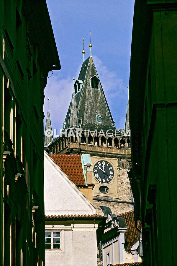 Torre de igreja em Budapeste. Hungria. 1995. Foto de João Caldas.