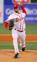 10 April 2007 Boston Red Sox lefthander Jon Lester pitches for the Greenville Drive in a rehab assignment against the Columbus Catfish Tuesday, April 10, 2007. This was the second of four planned appearances for Lester with the Drive as he recovers from successful cancer treatment. Photo by:  Tom Priddy/Four Seam Images