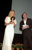 Sept 2, 2002, Montreal, Quebec, Canada<br /> <br /> Maria Bonnevie, receive the <br /> Best Actress award for the movie I AM DINA,<br />  by Ole Bornedal ,at the closing ceremony of the 2002 Montreal World Films Festival, Sept 2 2002, in  Montreal, Quebec, Canada<br /> <br /> <br /> Mandatory Credit: Photo by Pierre Roussel- Images Distribution. (©) Copyright 2002 by Pierre Roussel <br /> <br /> NOTE : <br />  Nikon D-1 jpeg opened with Qimage icc profile, saved in Adobe 1998 RGB<br /> .Uncompressed  Uncropped  Original  size  file availble on request.