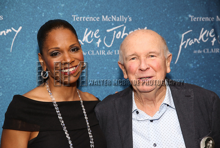 "Audra McDonald and Terrence McNally during the Opening Night After Party for ""Frankie and Johnny in the Clair de Lune"" at the Brasserie 8 1/2 on May 29, 2019  in New York City."