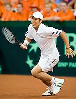 19-9-08, Netherlands, Apeldoorn, Tennis, Daviscup NL-Zuid Korea, First rubber     HyungTaik Lee