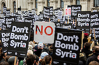"""28.11.2015 - """"Don't Bomb Syria"""" - Demo Outside Downing Street"""
