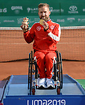 Rob Shaw, Lima 2019 - Wheelchair Tennis // Tennis en fauteuil roulant.<br /> Rob Shaw wins a gold medal in Wheelchair Tennis // Rob Shaw gagne un médaille d'or en Tennis en fauteuil roulant. 30/08/2019.