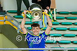 Kerry captain David Clifford lifts the cup during the Allianz Football League Division 1 Round 7 match between Kerry and Donegal at Austin Stack Park in Tralee on Saturday.