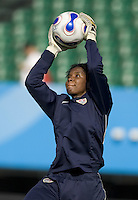 USA goalkeeper Briana Scurry. The USA defeated Sweden 2-0 during their Group B first round game at the 2007 FIFA Women's World Cup at Chengdu Sports Center Stadium in Chengdu, China on September 14, 2007.