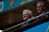 Italian President Sergio Mattarella and Gabriele Gravina during the Uefa Euro 2020 Final football match between Italy and England at Wembley stadium in London (England), July 11th, 2021. <br /> Photo Andrea Staccioli / Insidefoto