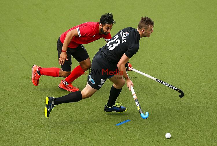 Dylan Thomas. International Hockey, Blacksticks men v Canada. Lloyd Elsmore Park, Auckland, New Zealand. Saturday 20 October 2018. Photo: Simon Watts/Hockey NZ