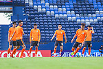 Players of SHANDONG LUNENG FC (CHN) in action during a training session on 03 May 2016, one day before the 2016 AFC Champions League Group F Match Day 6 match between BURIRAM UNITED (THA) vs SHANDONG LUNENG FC (CHN) in Buriram, Thailand.