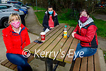 Enjoying a coffee and a chat in the Listowel town park on Saturday, l to r: Catherine Hannon, Rachel Stokes and Brenda McGrath