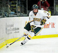 24 November 2009: University of Vermont Catamount forward Matt Marshall, a Sophomore from Hingham, MA, in action against the University of Massachusetts Minutemen at Gutterson Fieldhouse in Burlington, Vermont. The Minutemen defeated the Catamounts 6-2. Mandatory Credit: Ed Wolfstein Photo