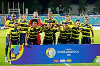 3rd July 2021, Estádio Olímpico Pedro Ludovico stadium, Goiânia, Brazil: Copa America Football tournament, Argentina versus Ecuador;  Team Ecuador