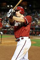Arizona Diamondbacks outfielder A.J. Pollock #11 on deck during a National League regular season game against the Colorado Rockies at Chase Field on October 3, 2012 in Phoenix, Arizona. Colorado defeated Arizona 2-1. (Mike Janes/Four Seam Images)