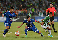 MEDELLIN-COLOMBIA, 27-09-2016. Acción de juego entre  Atlético Nacional  y  Sol de América  durante encuentro  por la Copa Sudamericana 2016 octavos de final  disputado en el estadio Atanasio Girardot./ Action game between Atletico Nacional and Sol of America of Paraguay   during match for the Sudamericana Cup 2016  played at Atanasio Girardot stadium . Photo:VizzorImage / León Monsalve / Contribuidor