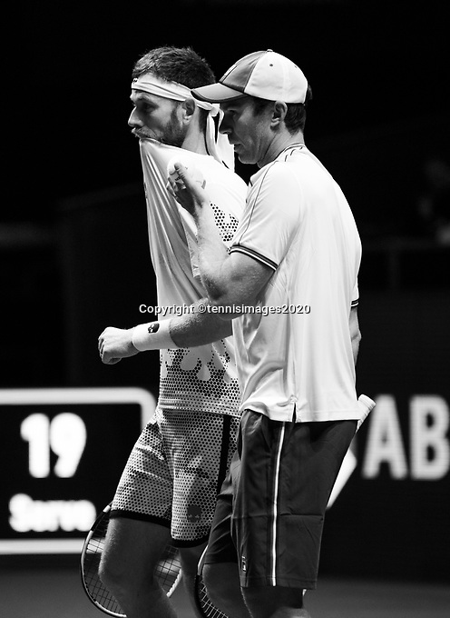 Rotterdam, The Netherlands, 11 Februari 2020, ABNAMRO World Tennis Tournament, Ahoy, <br /> John Peers (AUS) and Michael Venus (NZL).<br /> Photo: www.tennisimages.com