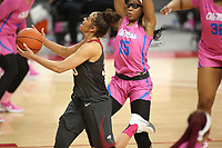 The University of Arkansas Razorback Women's basketball team played against the University of Mississippi Friday, February 19, 2021, at Bud Walton Arena on the campus of the University in Fayetteville. Check out nwaonline.com/2102120Daily/ and nwadg.com/photos for a photo gallery.<br /> (NWA Democrat-Gazette/David Gottschalk)<br /> <br /> nwasptuawomen20210220