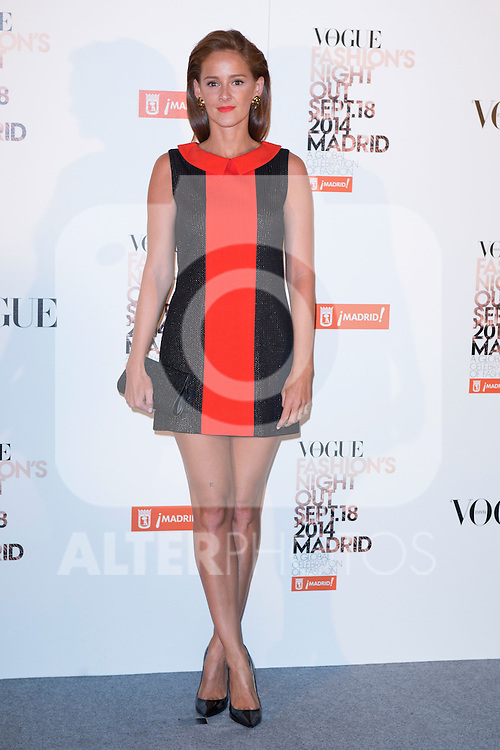 """Ana Polvorosa attends the """"VOGUE FASHION NIGHT OUT"""" Photocall at Jose Ortega y Gaset street in Madrid, Spain. September 18, 2014. (ALTERPHOTOS/Carlos Dafonte)"""