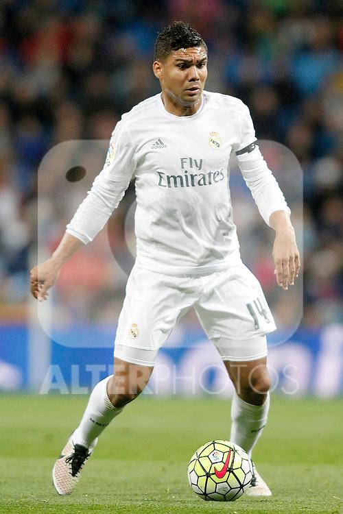 Real Madrid's Carlos Henrique Casemiro during La Liga match. April 20,2016. (ALTERPHOTOS/Acero)