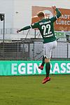 22.11.2020, Dietmar-Scholze-Stadion an der Lohmuehle, Luebeck, GER, 3. Liga, VfB Luebeck vs FC Bayern Muenchen II <br /> <br /> im Bild / picture shows <br /> Torjubel/Jubel. Torschütze/Torschuetze Tim Weißmann/Weissmann (VfB Luebeck)  jubelt ueber das Tor zum 2:0<br /> <br /> DFB REGULATIONS PROHIBIT ANY USE OF PHOTOGRAPHS AS IMAGE SEQUENCES AND/OR QUASI-VIDEO.<br /> <br /> Foto © nordphoto / Tauchnitz