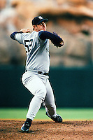 Ed Yarnall of the New York Yankees during a game against the Anaheim Angels circa 1999 at Angel Stadium in Anaheim, California. (Larry Goren/Four Seam Images)