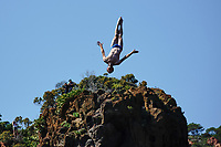 12th June 2021, Saint-Raphaël, Provence-Alpes-Côte d'Azur, France; Red Bull Cliff Diving competition;  Andy JONES (USA)