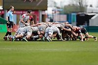 20th February 2021; Twickenham Stoop, London, England; English Premiership Rugby, Harlequins versus Sale Sharks; Harlequins players and Sale Sharks players in the scrum