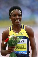 Janeive Russell JAM Winner 400m Hurdles Women   <br /> Roma 02-06-2016 Stadio Olimpico.<br /> IAAF Diamond League 2016<br /> Atletica Legera <br /> Golden Gala Meeting - Track and Field Athletics Meeting<br /> Foto Cesare Purini / Insidefoto