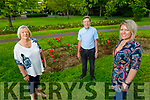Susan Carey  of the Tralee/West Kerry branch of MS, with Danny McElligott and June Carey pictured in the Tralee Town park on Monday