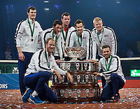 Gent, Belgium, November 29, 2015, Davis Cup Final, Belgium-Great Britain, day three, Great Britain win the Davis Cup 2015.<br /> Photo: Tennisimages/Henk Koster