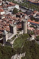 Europe/France/Midi-Pyrénées/09/Ariège/Vallée de l'Ariège/Foix: Vue aérienne du Château