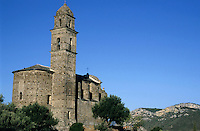 Old church in Patrimonio on the island of Corsica, France.