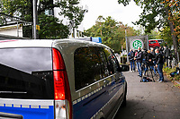 7th October 2020, FRankfurt, Germany; The DFB German Football League offices are raided by the German Anti-Fraud squad; Police and media outside the offices