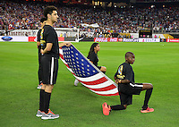 Houston, TX - Tuesday June 21, 2016: Flag Kids prior to a Copa America Centenario semifinal match between United States (USA) and Argentina (ARG) at NRG Stadium.